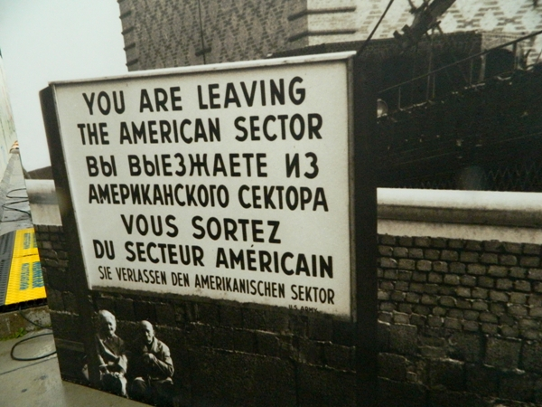 Image of the Checkpoint Charlie Sign at the East Side Gallery