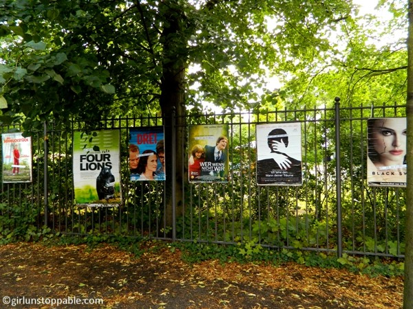 Movie posters at Volkspark Friedrichshain in Berlin