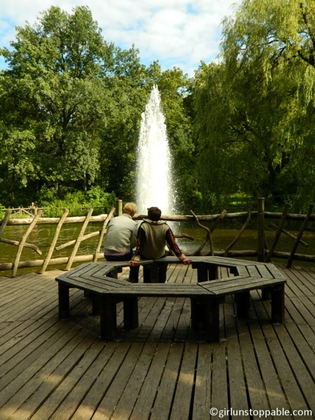 Fountain at Volkspark Friedrichshain in Berlin