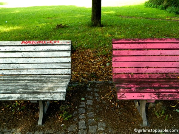 Benches at Volkspark Friedrichshain in Berlin
