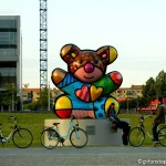 Berlin - Bear Across from the Berlin Wall