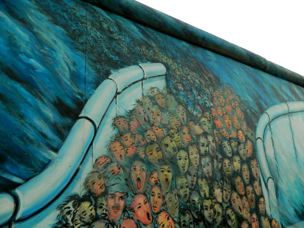 Mural about the Berlin Wall Era at the East Side Gallery
