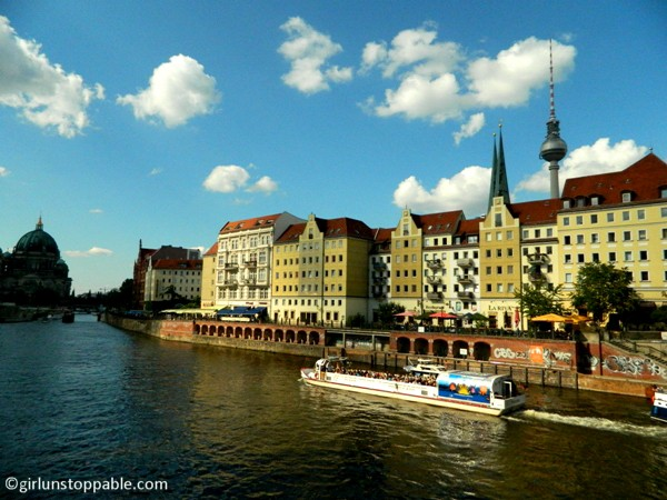 A scenic section of the Spree River in Berlin