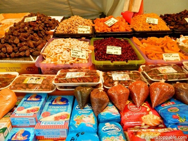 Dried Foods at the Turkish Market in Berlin