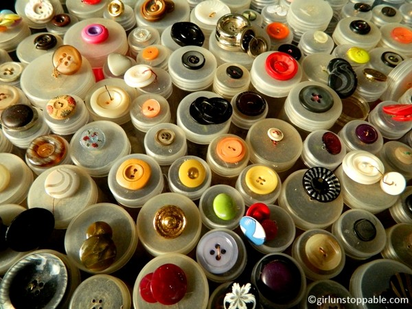 Buttons at the Turkish Market in Berlin
