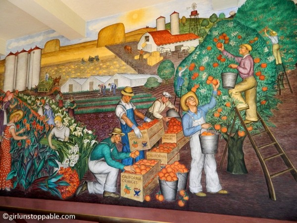 A mural at San Francisco's Coit Tower