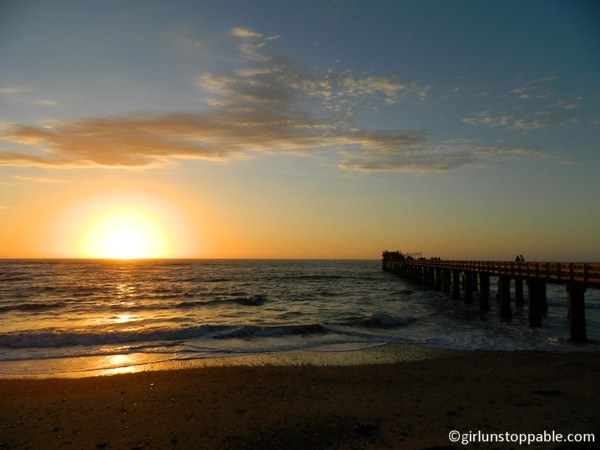 A Christmas sunset in Swakopmund, Namibia