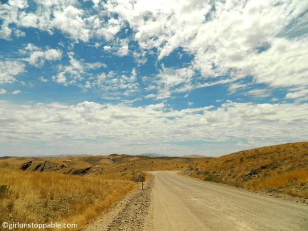 Road and sky in Namibia