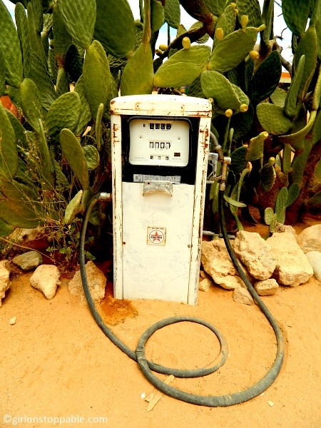 Old gas pump in Solitaire, Namibia