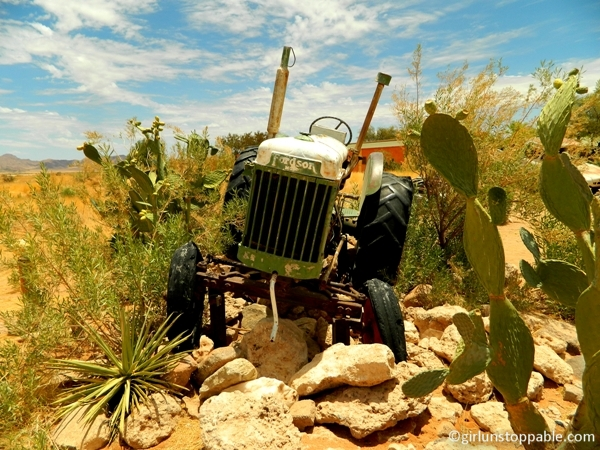 Old tractor in Solitaire, Namibia