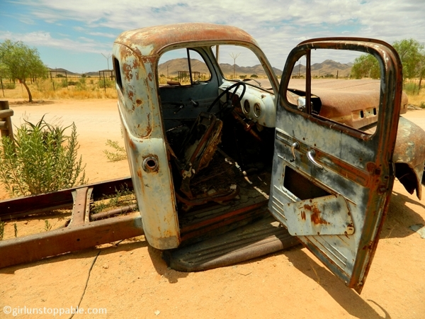 Decaying truck in Solitaire, Namibia