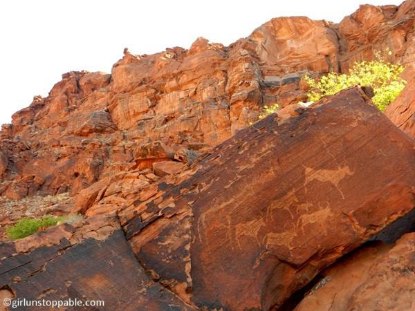 Rock art in Twyfelfontein, Namibia