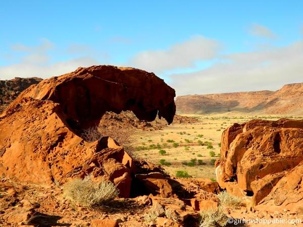 Rock formation in Twyfelfontein, Namibia