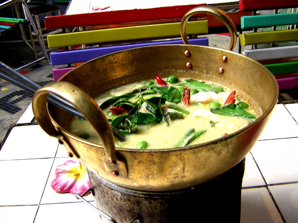 Green Coconut Curry in Thailand
