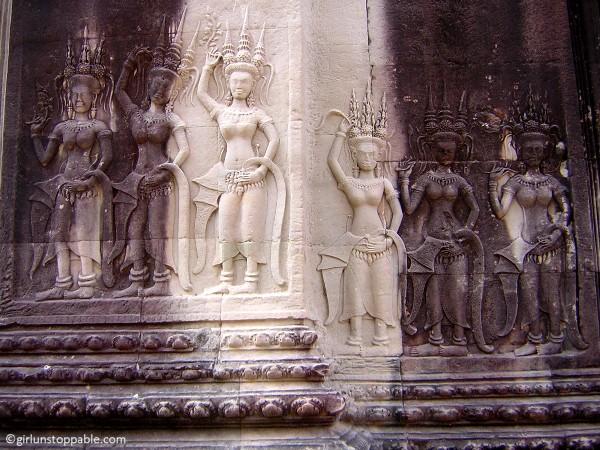 Angkor Wat Bas Reliefs, Cambodia