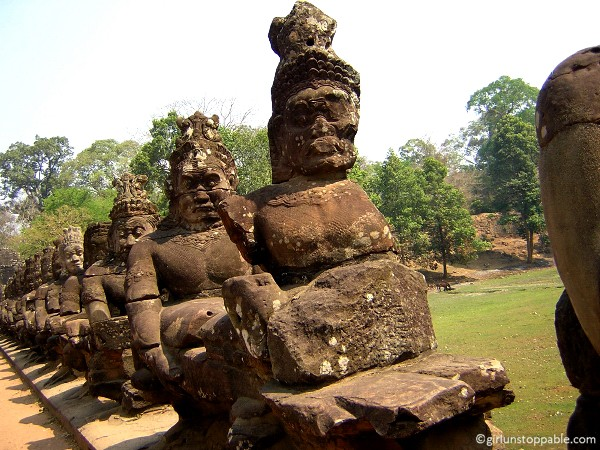 Road to Angkor Thom, Cambodia
