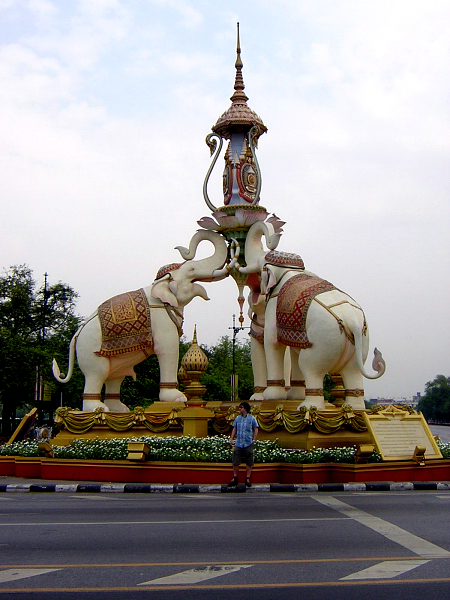 Elephant near the Grand Palace in Bangkok, Thailand