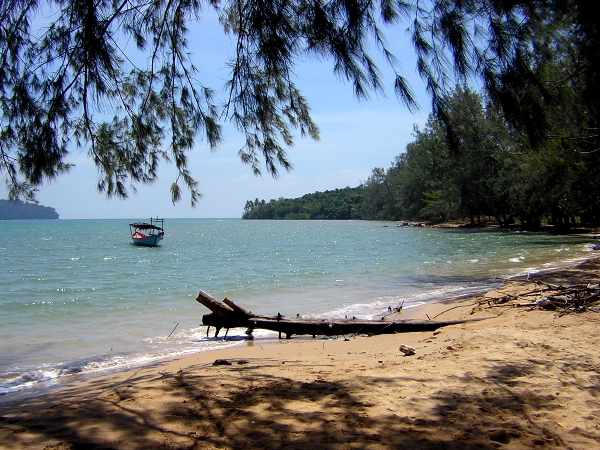 Bamboo Island off the coast of Sihanoukville, Cambodia