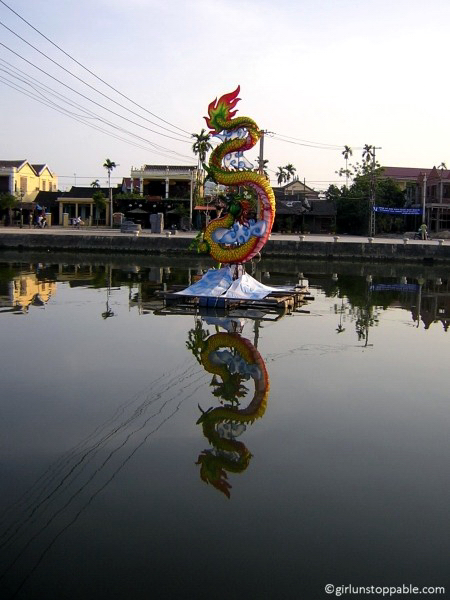 Art in the river in Hoi An, Vietnam