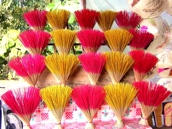 Incense for sale in Hue, Vietnam