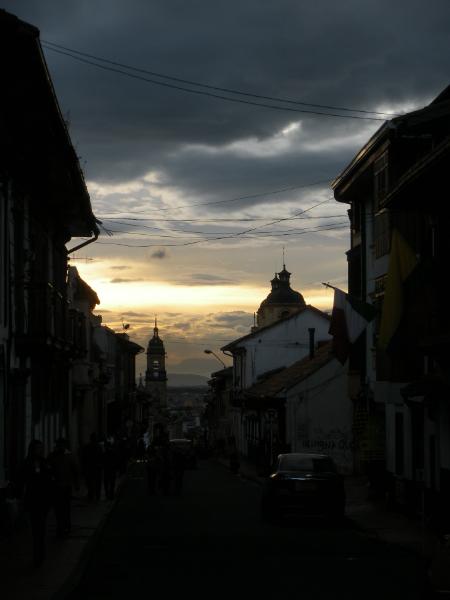Sunset in La Candelaria, Bogota