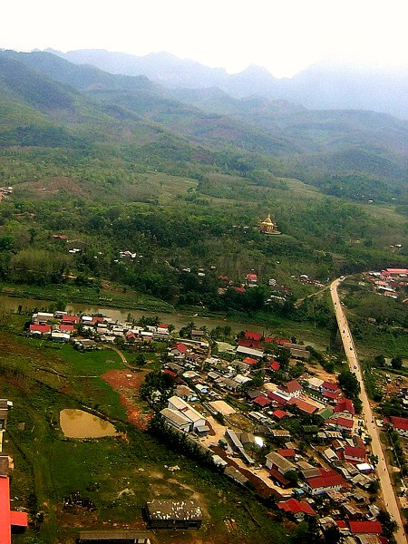 Flying over Luang Prabang, Laos