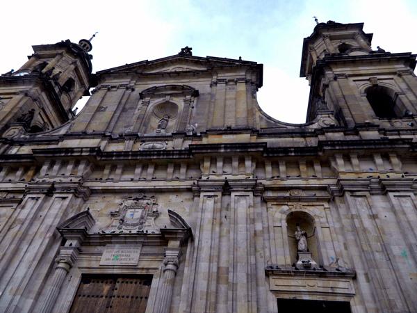 Cathedral in Plaza de Bolivar in Bogota, Colombia