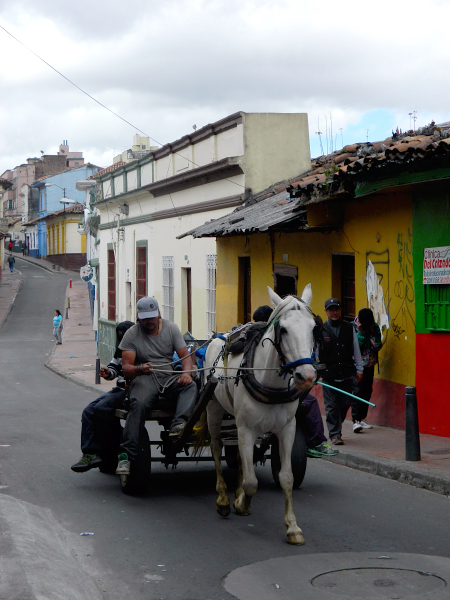 Horse drawn cart in Bogota, Colombia
