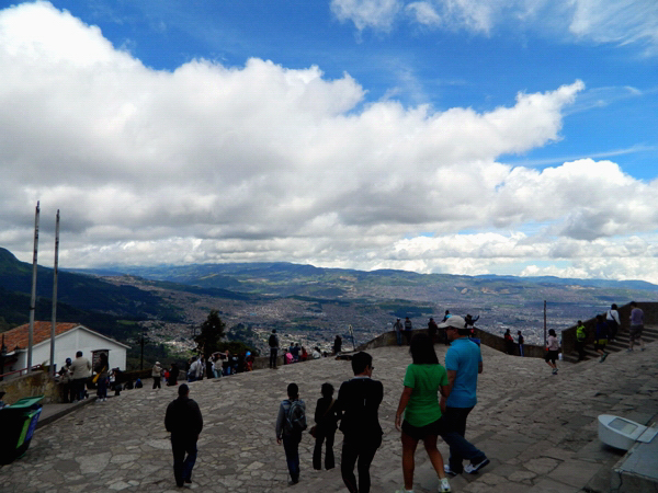 At the top of Monserrate in Bogota, Colombia