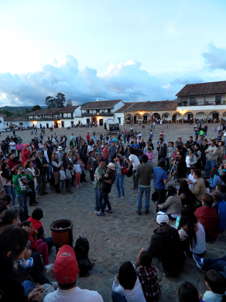 Music and Dancing in Villa de Leyva, Colombia
