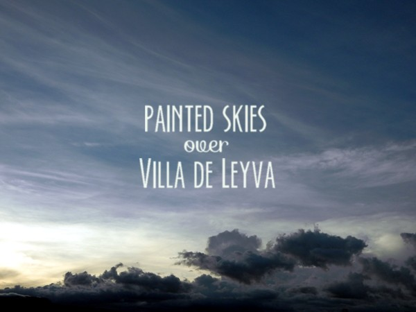 Painted skies over Villa de Leyva, Colombia