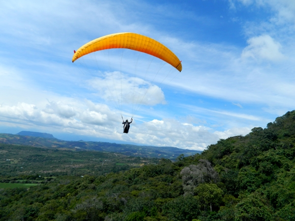Paragliding near San Gil, Colombia
