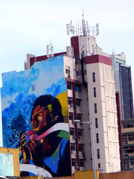 """Prisma Afro"" mural by Vertigo Graffiti crew in Cartagena, Colombia"