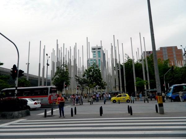Parque de la Luz in Medellin, Colombia