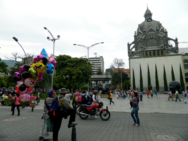 Palace of Culture and Plaza Botero in Medellin, Colombia