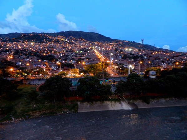 View from Acevedo metro station in Medellin, Colombia