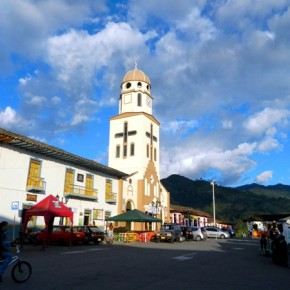 Town square in Salento, Colombia