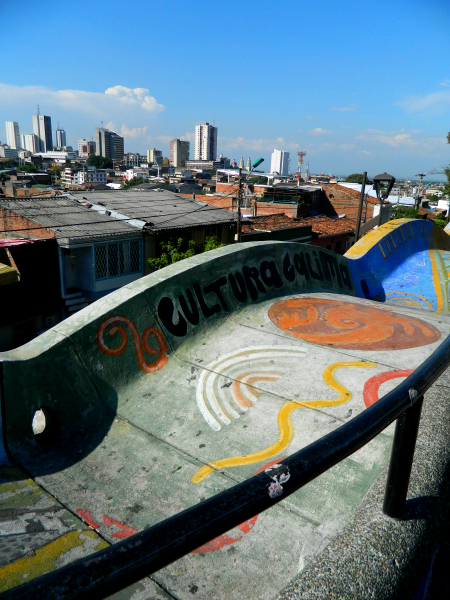 Mural and a view in Cali, Colombia