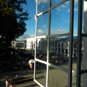 Overlooking the main square in Popayan, Colombia