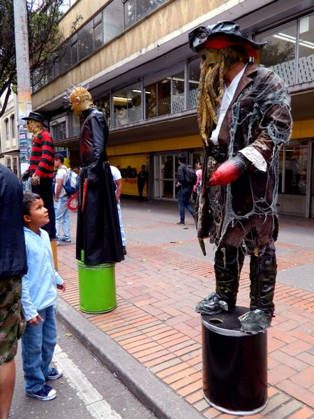 Street Performers in Bogota, Colombia