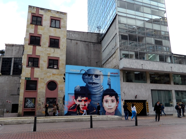 Street art by Orfanato, an organization for children without parents in Bogota, Colombia