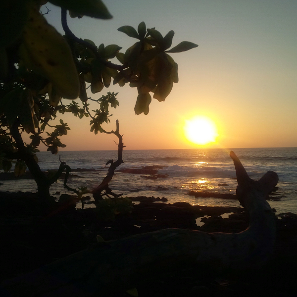 Sunset at a beach in Kailua-Kona, Hawaii