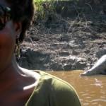 Me and a crocodile in Bolivia