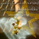 """""""We have only this moment, sparkling like a star in our hand... and melting like a snowflake."""""""